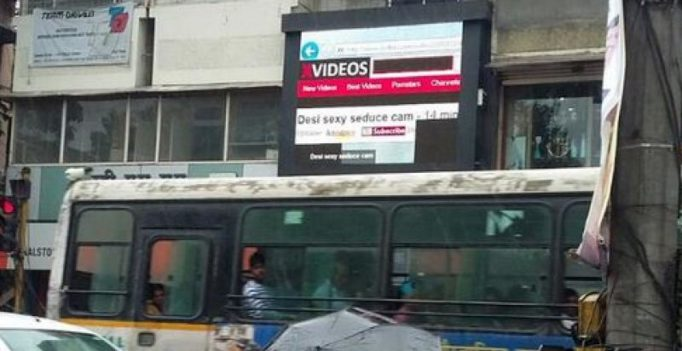 Pune: Porn clip plays on digital billboard, causes traffic jam
