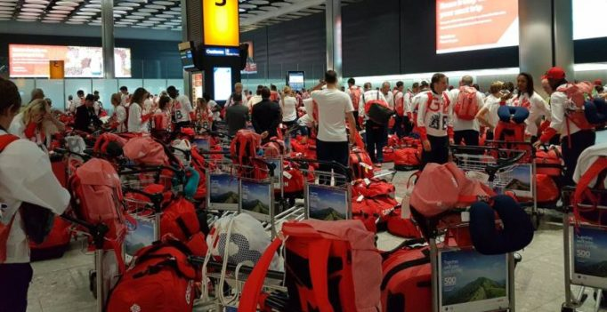 Rio returned UK athletes rummage through 900 identical bags to spot luggage