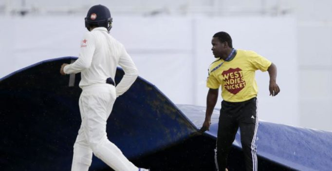 Ind vs WI: Rain intervenes after India land double blow