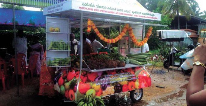 Organic mobile shop to sell fresh veggies in Kulasekharapuram