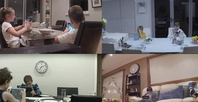 Video: Tech-obsessed kids don't notice when strangers replace their parents