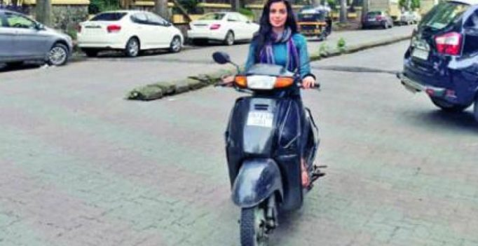 Subha Rajput ditches luxury car for a two-wheeler