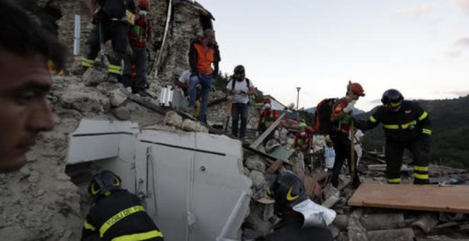 Italy searches for survivors as quake toll hits 247, town reduced to rubble