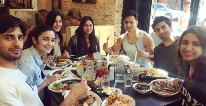 Dream Team says goodbye to flat stomachs as they celebrate their tour with a feast!