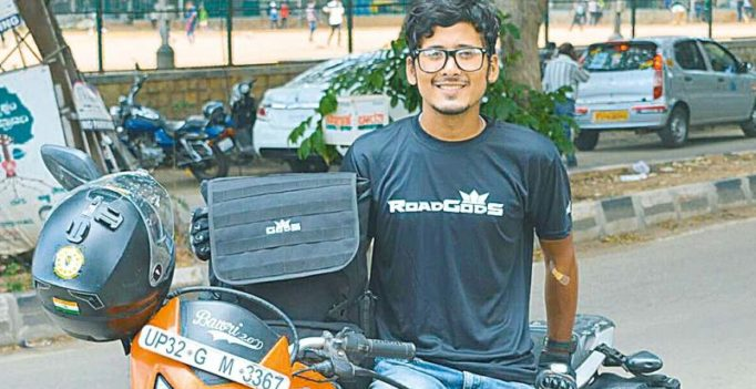 78,000 km and going, 23-year-old Bengaluru biker breaks Guinness record