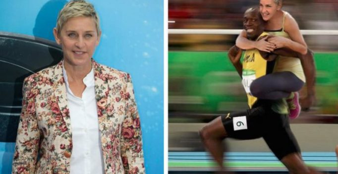 Caught in racism row, DeGeneres defends posting photo with Usain Bolt
