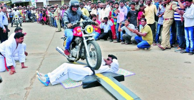 Rajahmundry: 24-year-old endures 100 bikes run over his stomach