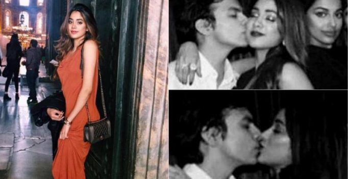 Too adorable! Sridevi's daughter Jhanvi Kapoor snapped kissing beau Shikhar
