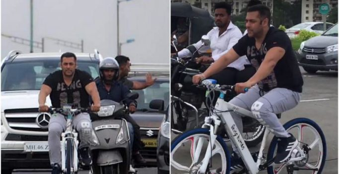 Watch: When Salman Khan cycles, other vehicles are asked to move aside