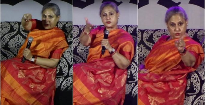 Watch: 'Be disciplined,' angry Jaya Bachchan scolds students