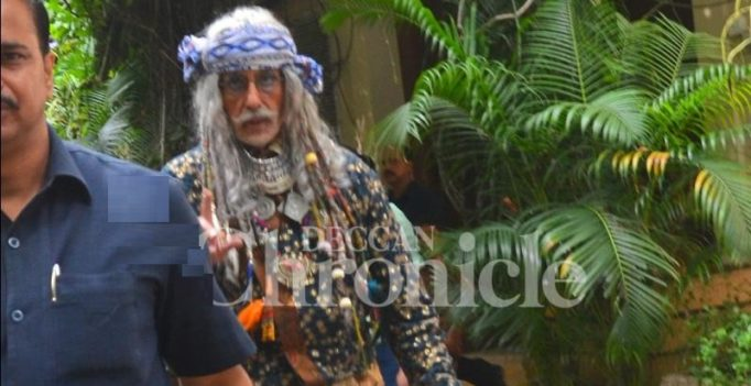 Snapped: Amitabh Bachchan dons an unusual avatar for his next project