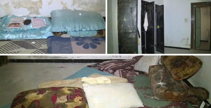 Stained pillows, dog bowls for water, contraceptives and drugs in IS sex slave prison