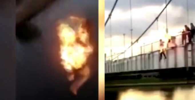 Video: Teens set themselves on fire, jump off bridge to be popular on social media