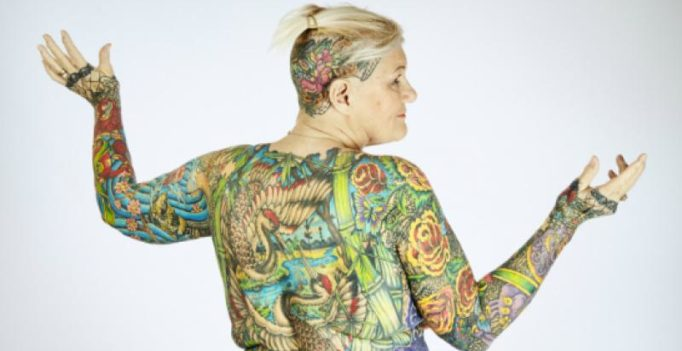 Video: This 67-year-old woman holds the record for most body tattoos