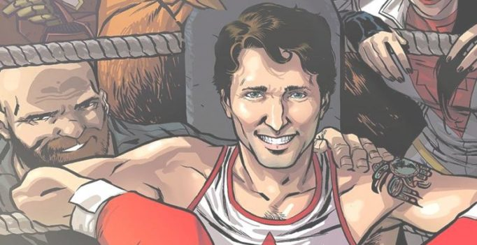 Video: Justin Trudeau is now officially a superhero