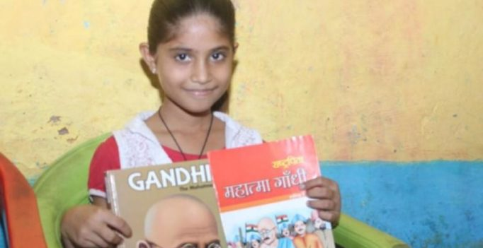 Meet Bhopal's 'nine-year old librarian' who educates kids in her slum
