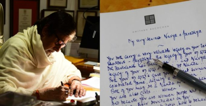 Watch: Big B writes touching letter about women empowerment to his granddaughters