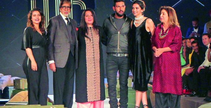 Bollywood, cricketers glam up Yuvi's show