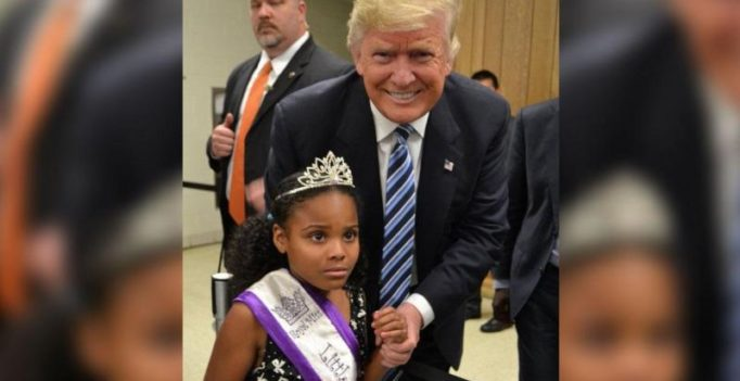 Little Miss Flint's meeting with Donald Trump is all things awkward