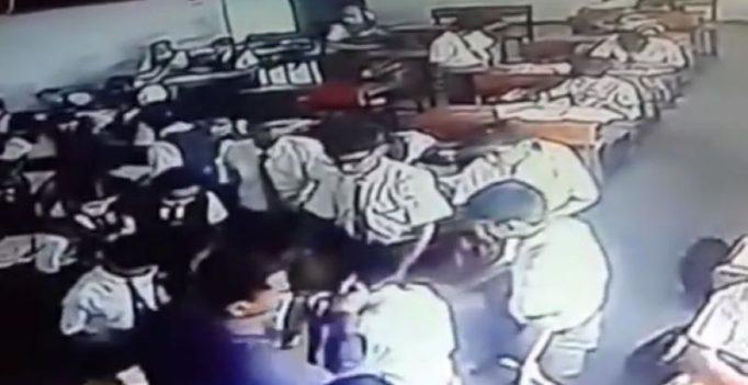 Video: UP teacher knocks down boy, beats him up for not doing homework