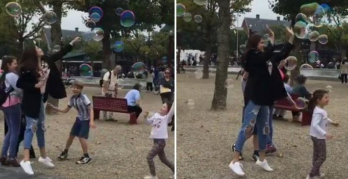 Watch: Anushka Sharma brings out the child in her as she bursts bubbles