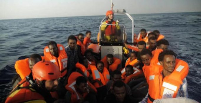Migrants lost at sea off Libya in nighttime horror