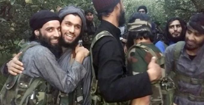New video shows Hizbul Mujahideen militants laughing, hugging each other