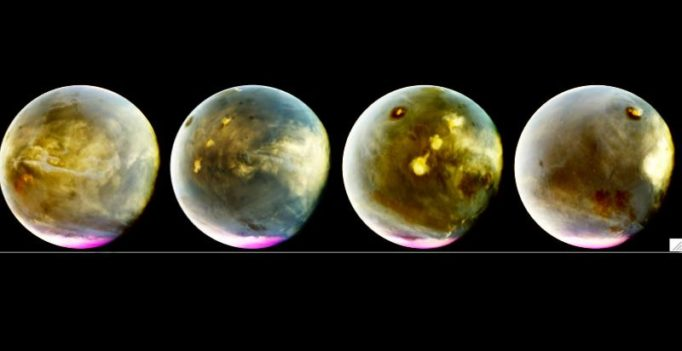 NASA probe beams back ultraviolet images of Martian atmosphere