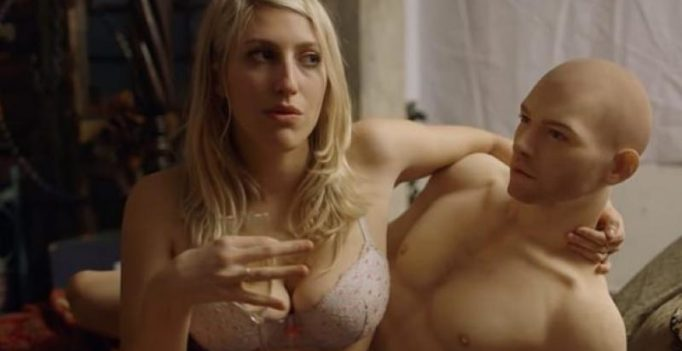 Video: Woman tries out world's first male sex doll