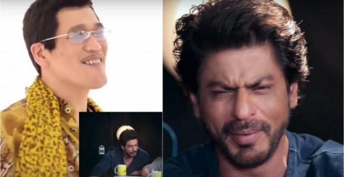 Video: Shah Rukh Khan loses his cool after watching 'Pen-Pineapple-Apple-Pen' song