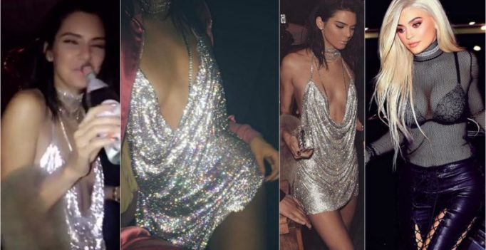 Kendall Jenner goes all out in barely there dress on her birthday with Kylie Jenner!