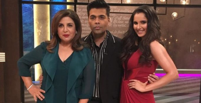 Farah Khan and Sania Mirza to bare their hearts on Karan Johar's Koffee couch