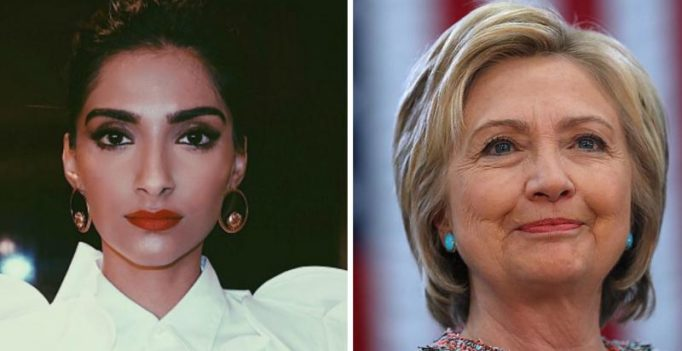Watch: Sonam Kapoor gives speech campaigning for Hillary Clinton in USA