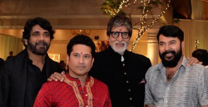Amitabh Bachchan has a gala time with Mammootty, Nagarjuna and Sachin Tendulkar