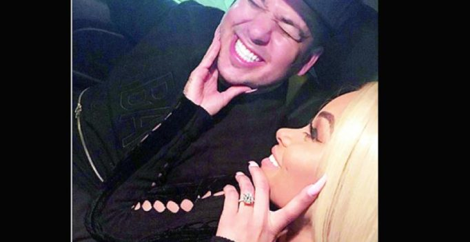 Black Chyna and Rob Kardashian get together for Christmas