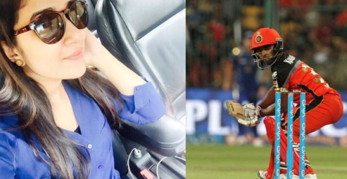 Watch: Cricketer Sachin Baby announces marriage with Anna Chandy on a cricket field