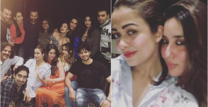 Kareena parties hard with her girl gang, Saif and Sidharth at KJo's private bash