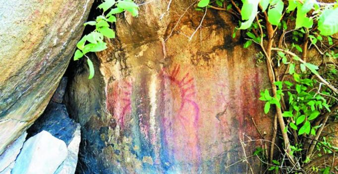 Group claims discovery of rock paintings near Medak