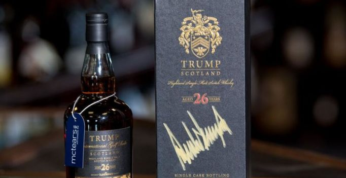 Bottle of whisky signed by Trump fetches USD 7,334 at auction