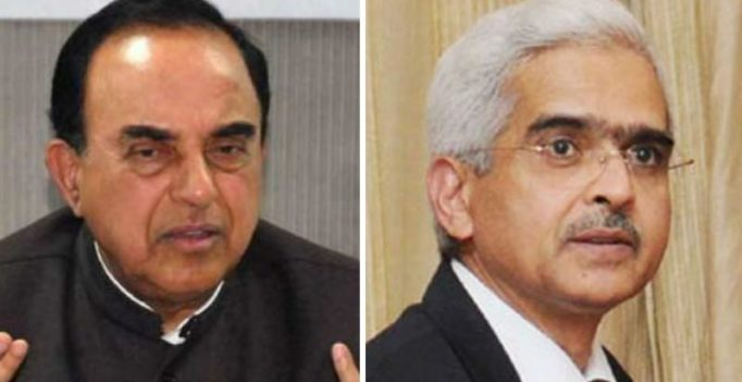 'Don't make Shaktikanta Das as SEBI Chief', Swamy urges PM
