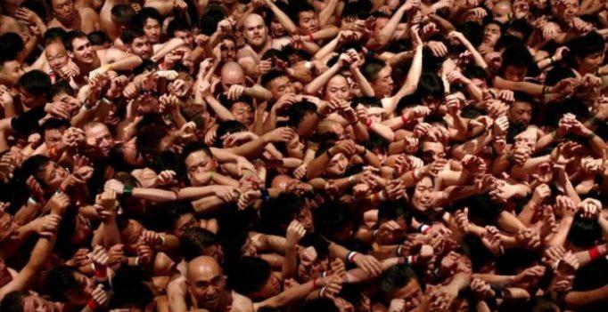 Bare cheek as Japan men strip off for naked festival