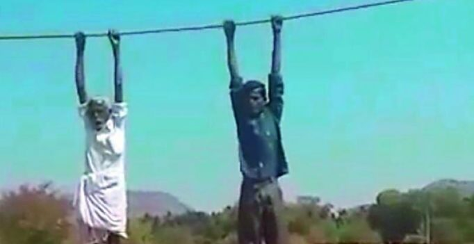 Anantapur: Protesting farmers hoisted on power transmission lines