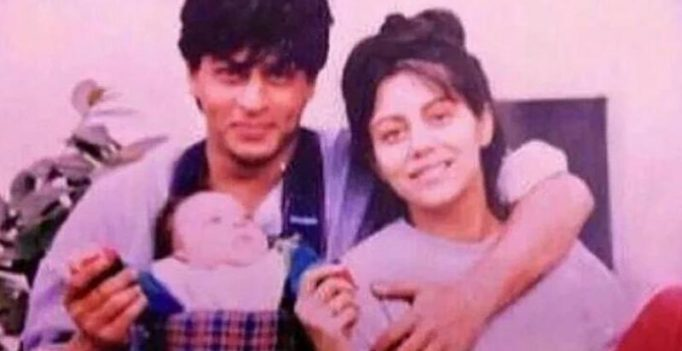 Throwback: This picture of SRK with an infant Aryan will give you warm fuzzies