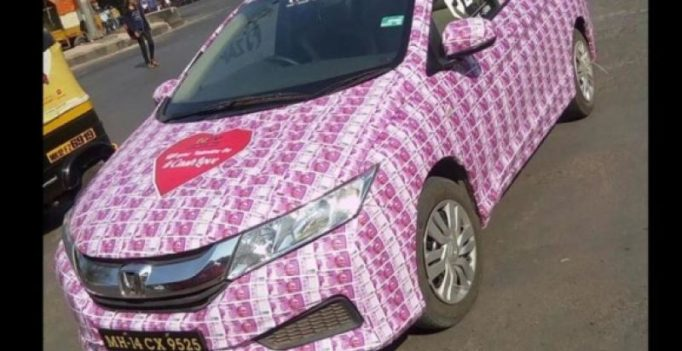 Mumbai lover gets arrested for decorating car with Rs 2000 notes on Valentine's Day
