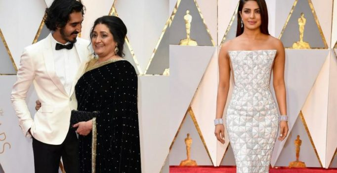 Oscars: Priyanka sizzles in silver apparel, nominee Dev Patel arrives with mom