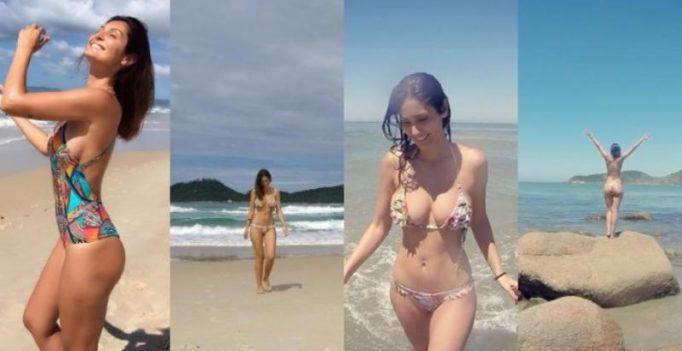 Beach babe Bruna Abdullah sets Internet on fire with her smoking hot bikini pics!