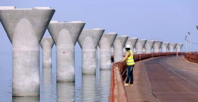 Kuwait's 22-mile bridge, cost $3 billion, is nearly complete