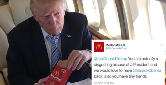 McDonalds serves anti-Trump tweet, says its account was 'compromised'