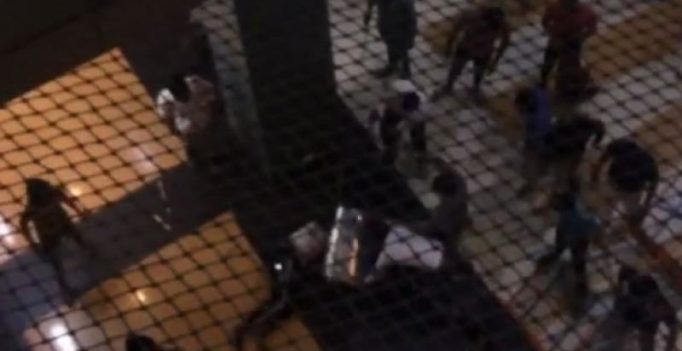 Video: Mob thrashes Nigerian man with steel dustbin at Noida mall
