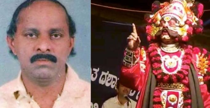 Tragedy on stage: Yakshagana artiste Gangaiah Shetty collapses performing Arunasura